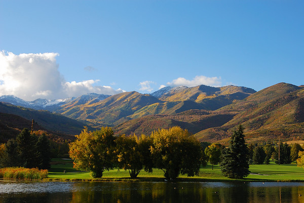 Wasatch Golf Course near Heber Utah. October 2008.