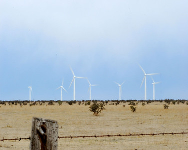 A Wind farm in the Texas Panhandle. April 2008.